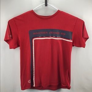Old School Nautical T Shirt Mens Red